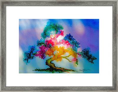 Da183 Golden Tree Daniel Adams Framed Print