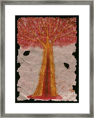Golden Trees Crying Tears Of Blood Framed Print