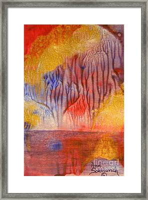 Golden Trees Of The Enchanted Forest Framed Print