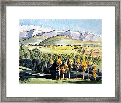 Framed Print featuring the painting Golden Trees by Terry Banderas