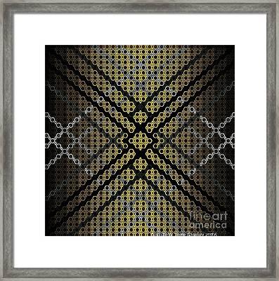 Golden Tri Framed Print