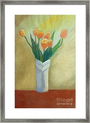 Golden Tulips Framed Print by Norma Appleton