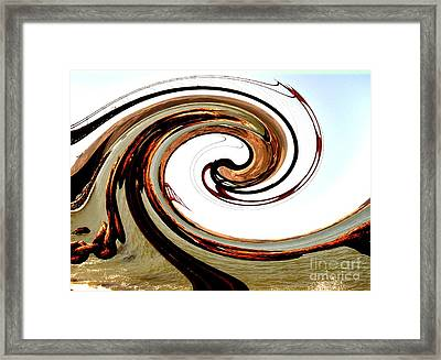Golden Twist Framed Print by Norman  Andrus
