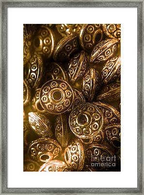 Golden Ufos From Egyptology  Framed Print