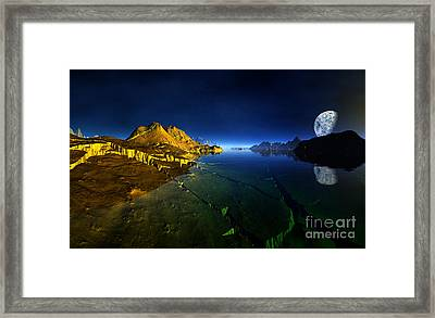 Golden Valley Planet 3 Framed Print by Heinz G Mielke