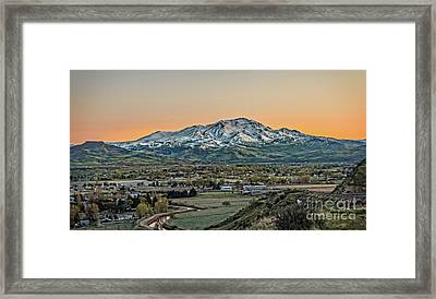 Golden Valley Framed Print by Robert Bales