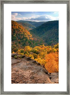 Golden Valleys Framed Print by Ryan Heffron
