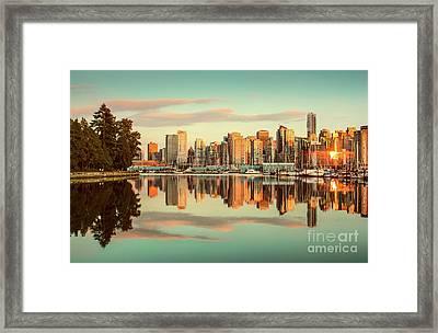 Golden Vancouver Framed Print by JR Photography