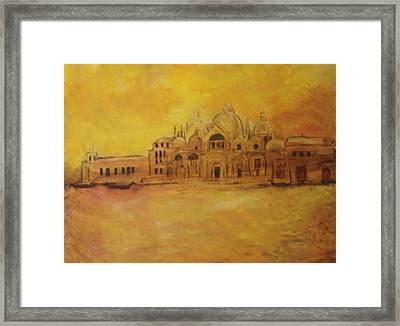 Golden Venice Framed Print by Michela Akers