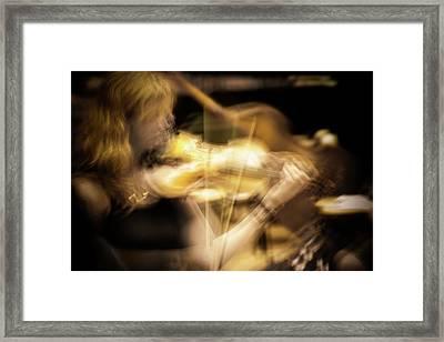 Golden Violin -  Framed Print