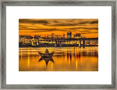 Golden Vistula Framed Print