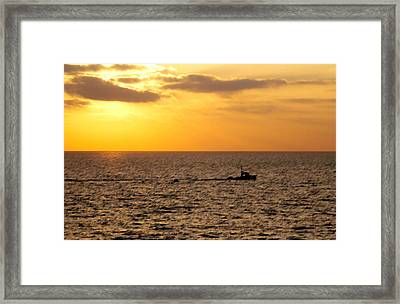 Framed Print featuring the photograph Golden Voyage by Christopher Woods