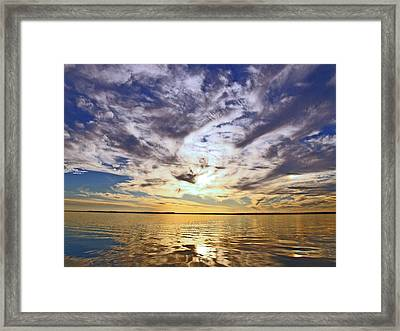 Golden Water Sunset Framed Print by James Granberry