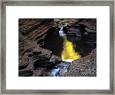 Framed Print featuring the photograph Golden Water by Vilas Malankar