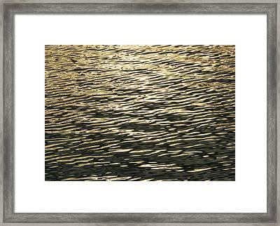 Golden Wave Framed Print