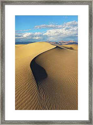 Framed Print featuring the photograph Death Valley - Golden Wave by Francesco Emanuele Carucci