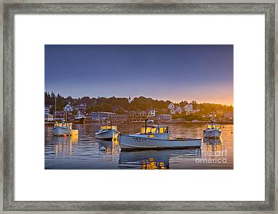 Golden Windows Framed Print