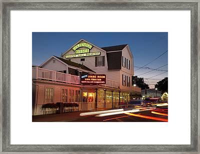 Goldenrod Kisses Luncheonette York Beach Maine Framed Print