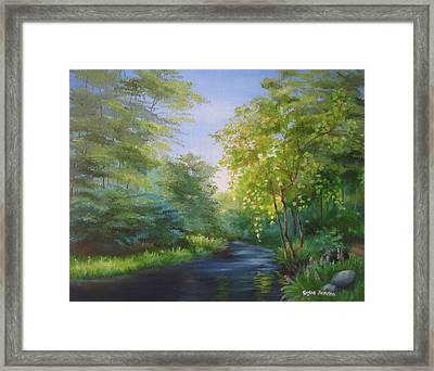 Goldenstream Framed Print by Regina Brereton