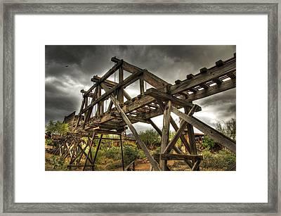 Goldfield Ghost Town - The Bridge  Framed Print by Saija  Lehtonen