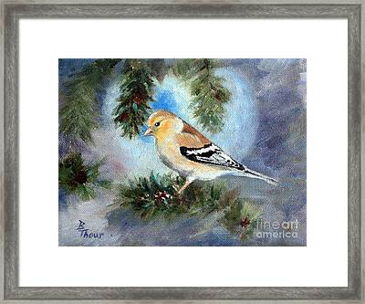 Goldfinch In A Tree Framed Print