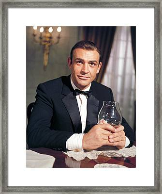 Goldfinger, Sean Connery, 1964 Framed Print by Everett
