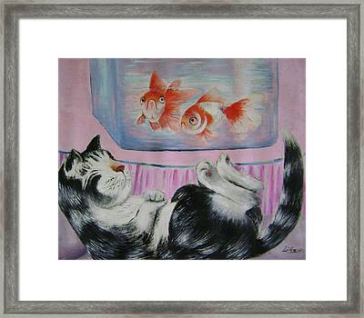 Goldfish Dream Framed Print by Lian Zhen