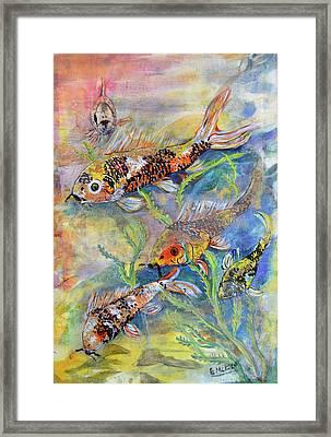 Goldfish Framed Print by Edith Hardaway