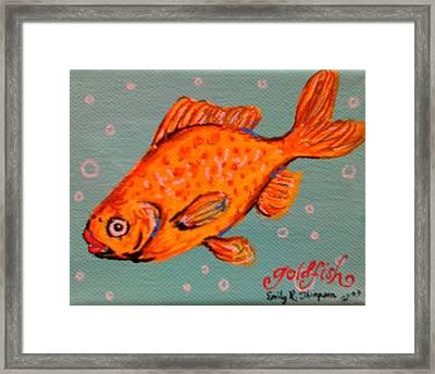 Goldfish Framed Print by Emily Reynolds Thompson