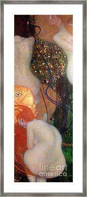 Goldfish Framed Print by Gustav Klimt
