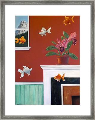 Goldfish In The House Framed Print