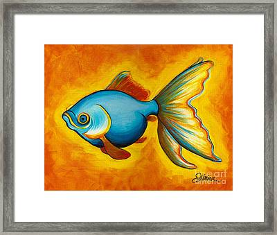 Goldfish Framed Print by Sabina Espinet