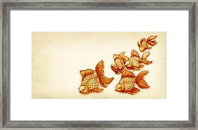 Goldfish School Framed Print by Catherine Noel