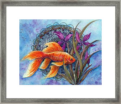 Goldfish Framed Print by Susy Soulies
