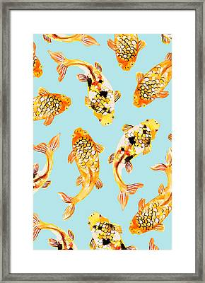 Goldfish Framed Print by Uma Gokhale