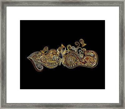 Goldfish Framed Print by Zetwal Studio