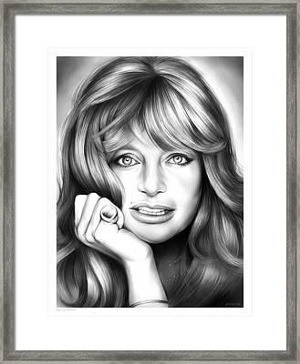 Goldie Hawn Framed Print by Greg Joens
