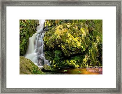 Goldmine Brook Falls Chester Ma Framed Print
