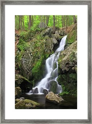 Goldmine Brook Falls  Framed Print by John Burk