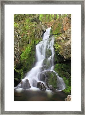 Goldmine Brook Falls Western Massachusetts Framed Print by John Burk