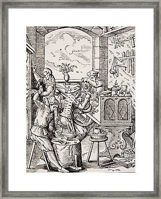 Goldsmith. 19th Century Reproduction Of Framed Print by Vintage Design Pics