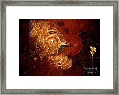 Framed Print featuring the digital art Goldsmith by Alexa Szlavics