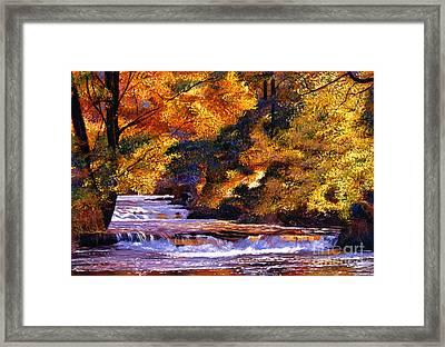 Goldstream River Framed Print by David Lloyd Glover