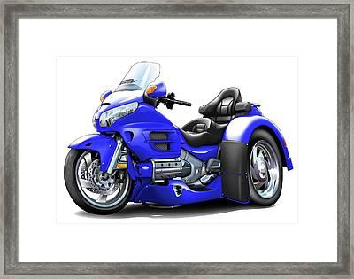 Goldwing Blue Trike Framed Print