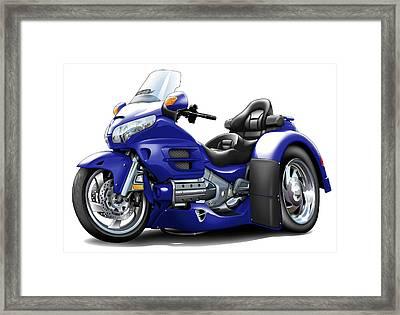 Goldwing Dark Blue Trike Framed Print