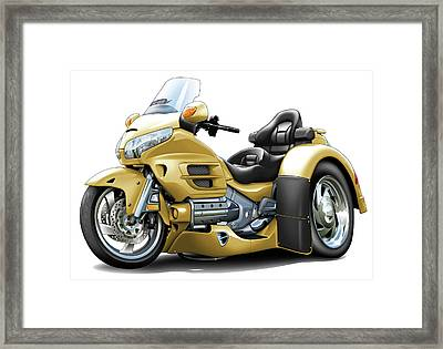 Goldwing Gold Trike Framed Print by Maddmax