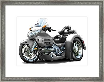 Goldwing Grey Trike Framed Print