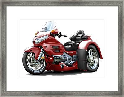 Goldwing Maroon Trike Framed Print