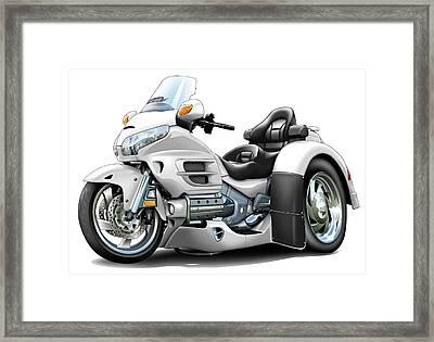 Goldwing White Trike Framed Print