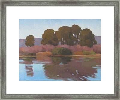 Goleta Beach Slough Framed Print by Jennifer Boswell